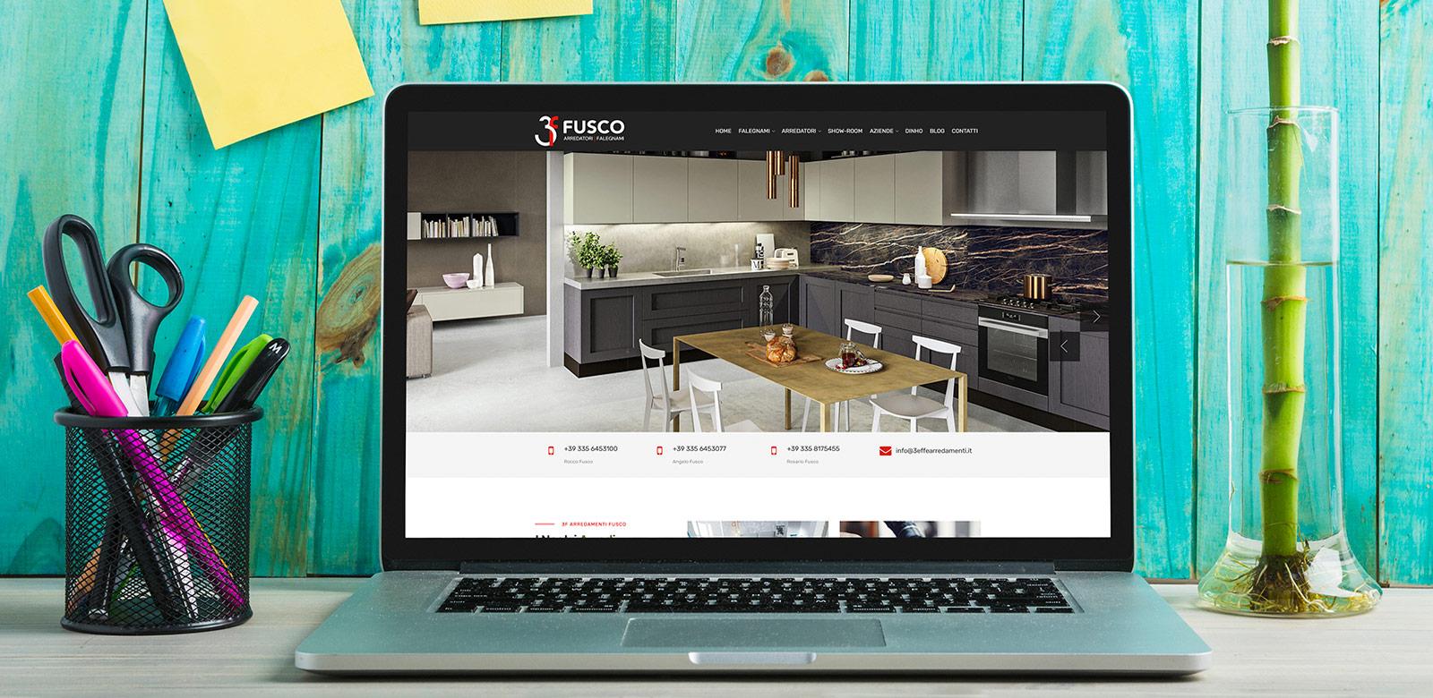 Online il sito di 3F Arredamenti Fusco